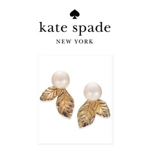 Kate Spade | NWT Gold Leaves and Pearl Stud